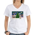 XmasMagic/Wheaten (#5) Women's V-Neck T-Shirt