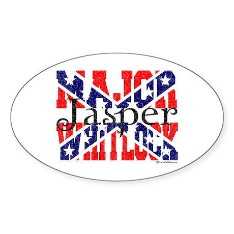 Major Jasper Oval Sticker