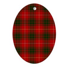 Clan Bruce - Just Tartan Oval Ornament