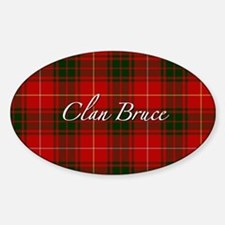 Clan Bruce - Just Tartan Oval Decal
