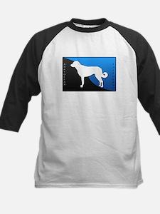 Anatolian Shepherd Dog Kids Baseball Jersey