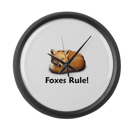Foxes Rule! Large Wall Clock
