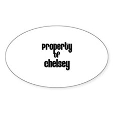 Property of Chelsey Oval Decal
