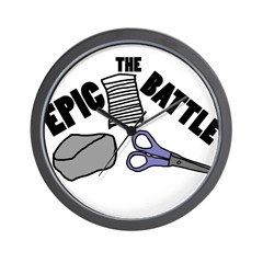 The Epic Battle Wall Clock
