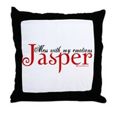 Mess With My Emotions Jasper Throw Pillow