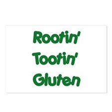 Rootin' Tootin' Gluten Postcards (Package of 8)