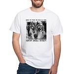 Report Animal Cruelty Dog White T-Shirt