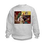 Santa's Wheaten (#7) Kids Sweatshirt