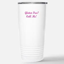 Gluten Free? Call Me! Stainless Steel Travel Mug
