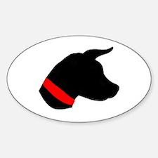 Dog Head Oval Decal