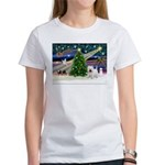 Xmas Magic & Westie Women's T-Shirt