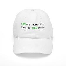 "HamTees.com ""QRPers Never Die..."" Baseball Cap"