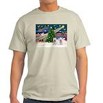 Xmas Magic & 2 Westies Light T-Shirt
