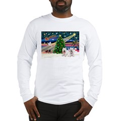 Xmas Magic & 2 Westies Long Sleeve T-Shirt