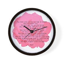 RUMI Poem Wedding Blessing Wall Clock