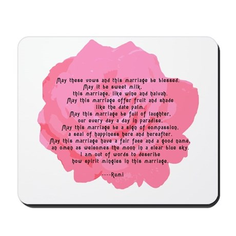 RUMI Poem Wedding Blessing Mousepad