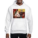Santa's Westie Hooded Sweatshirt