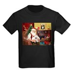 Santa's Westie Kids Dark T-Shirt