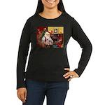 Santa's Westie Women's Long Sleeve Dark T-Shirt