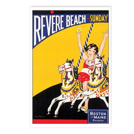Revere Beach Massachusetts Postcards (Package of 8