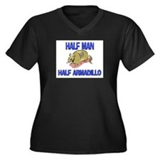 Half Man Half Armadillo Women's Plus Size V-Neck D
