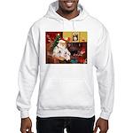 Santa's Westie pair Hooded Sweatshirt