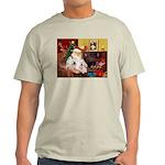 Santa's Westie pair Light T-Shirt