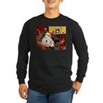 Santa's Westie pair Long Sleeve Dark T-Shirt