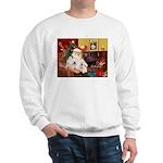 Santa's Westie pair Sweatshirt