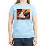 Santa's Westie pair Women's Light T-Shirt