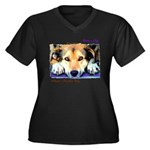 Save a Life - Adopt a Shelter Women's Plus Size V-