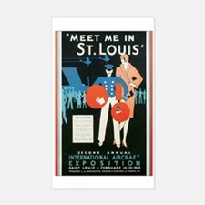 ST. LOUIS MISSOURI Rectangle Decal