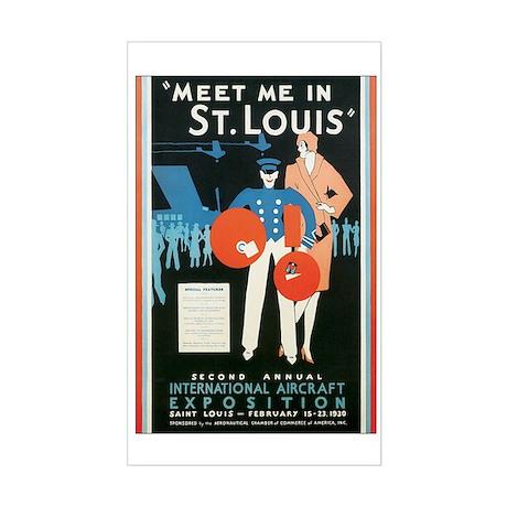 ST. LOUIS MISSOURI Rectangle Sticker
