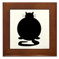 Fat Cat Framed Tile
