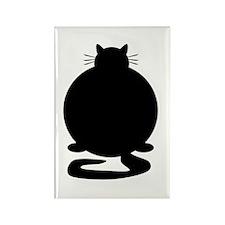 Fat Cat Rectangle Magnet