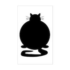 Fat Cat Rectangle Bumper Stickers