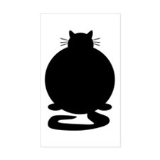 Fat Cat Rectangle Stickers