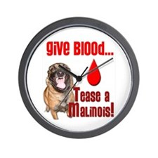 Give Blood - Tease a Malinois Wall Clock
