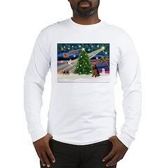 Xmas Magic & Welsh Terrier Long Sleeve T-Shirt
