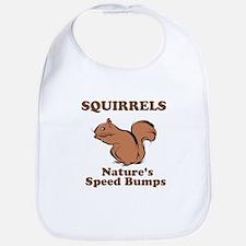 Squirrels Natures Speed Bumps Bib