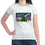 Xmas Magic & Corgi Jr. Ringer T-Shirt