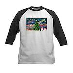 Xmas Magic & Corgi Kids Baseball Jersey