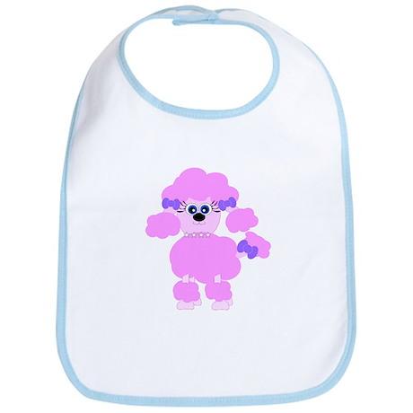 Pink Poodle Bib
