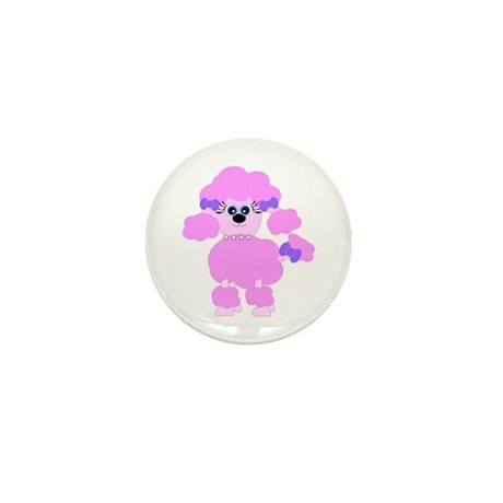 Pink Poodle Mini Button (10 pack)