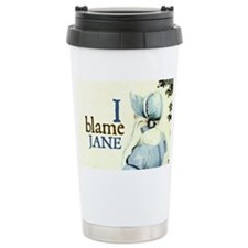 Jane Austen Blame Jane Travel Mug
