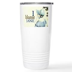 Jane Austen Blame Jane Travel Mug