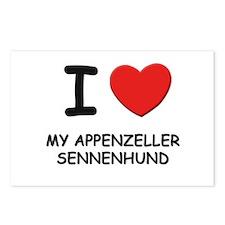 I love MY APPENZELLER SENNENHUND Postcards (Packag