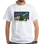 XmasMagic/Corgi (5C) White T-Shirt