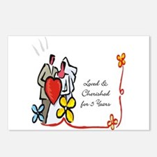 25th wedding anniversary Postcards (Package of 8)