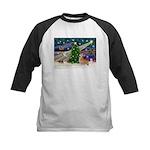 XmasMagic/Corgi (7b) Kids Baseball Jersey
